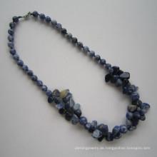 Lange Multi Ständer Edelstein Halskette