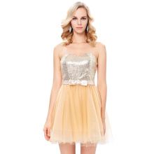 Starzz Strapless Fawn Sequined Tulle Ball Short Cocktail Evening Prom Party Dress 8 Size US 2~16 ST000114-2