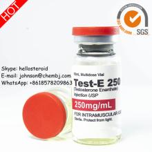 Testosterona líquida esteroide inyectable semi-acabada Test-E 250 Enanthate 250mg / ml