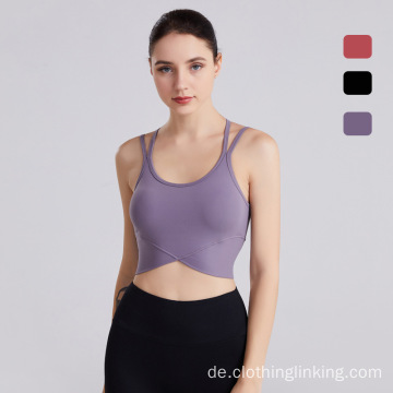 Frauen Yoga BHs Yoga Gym Sport Tops