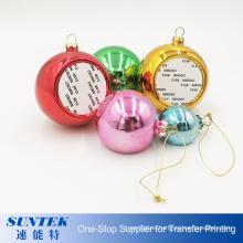 Sublimation Christmas Ball Plastic Ornament