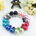 Shamballa Crystal Stud Earring For Women Shell Pearl Earring