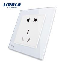 Livolo Производитель Пятиконтактный сетевой настенный разъем VL-W2C1D-12