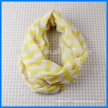 Polyester print woven loop yarn scarf