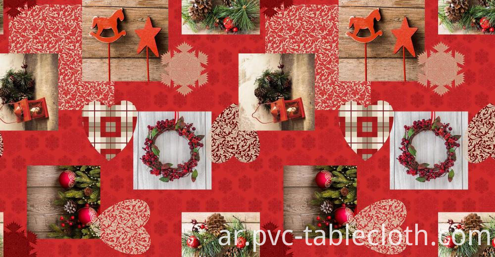 Christmas Design Vinyl Tablecloth