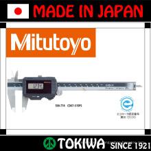 Ferramenta de medição e usinagem digital. Fabricado por Mitutoyo & Trusco. Feito no Japão (medidor de vernier e medidas da régua)