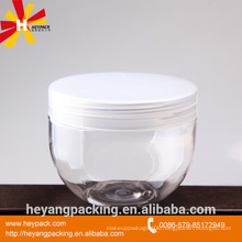 50g 100gl 150gl 250g 500g clear cosmetic PET jar with aluminium lid