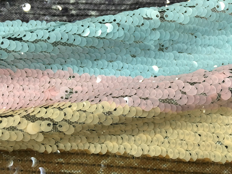 Poly Mesh Sequin Embroidery Fabric
