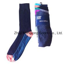 Hombres de negocios calcetines hechos con Nylon Spandex algodón