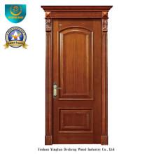 Vereinfachte europäische Art-feste hölzerne Tür für Innenraum mit dem Schnitzen (ds-8037)