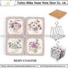 OEM/ODM Blank Cork Coaster, Owl Design Drink Coasters