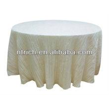 Wrinkled taffeta table cloth, round table cloth, banquet table cloth