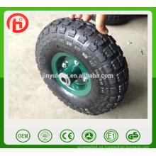 10 pulgadas, 3.50-4, 4.10-4 ruedas neumáticas, ruedas de caucho de uso de carretilla de la mano, carro, carros, carretillas de mano