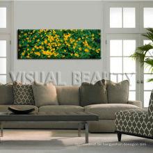Natürliche Blumen-Segeltuch-Wand-Kunst für Hauptdekor / panoramische Bild-Segeltuch