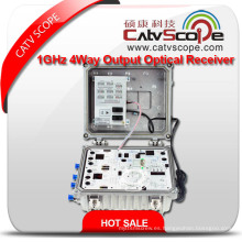 Proveedor profesional de alta calidad CATV Hfc red de 1 GHz 4 vías receptor óptico de salida