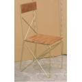 Industrial Mango Wood Metal Cross Back Dining Chair