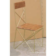 Industrial Mango Wood Metal Cross Back Dining Chair