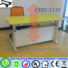 античный классический дизайн офисный стол макет ручная мотылевая регулируемая по высоте стол
