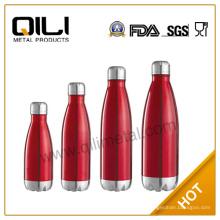 Alta calidad y más barato multicolor acero inoxidable coque botella de agua