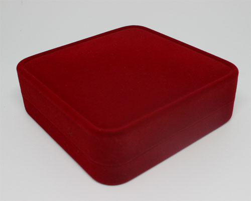Custom logo red velvet jewellery box wholesale