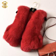 Chaleco natural del chaleco del cortocircuito de la piel de zorro rojo de la parte superior de la alta calidad Gilet