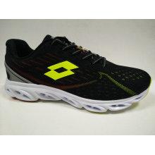 Men′s Fashion Black Round Toe Running Shoes Footwear