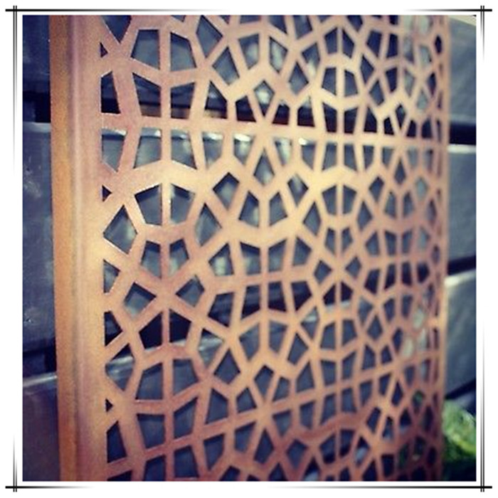 Metal Garden Screen Steel Rust Panel Wall Art