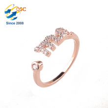 High Quality Free Shipping Multiple Ring Box Latest Jewelry Designs 14K Gold Rose Ring