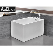 Aokeliya new arrival hot-selling acrylic rectangle freestanding bathtub classic high-quality tub with faucet