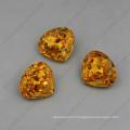 Perles de bijoux en strass jaune de haute qualité