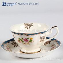 Moderne Form Luxus Feinporzellan Knochen China Bohne Zu Tasse Kaffee Maschine Tee Kaffeetasse Und Untertasse Set