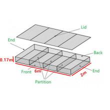 ISO China Supplier Galvanized Stone Basket Hexagonal Box Galvanized Reno Mattress Galfan Gabion PVC Coated Cage