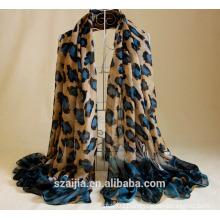 leopard printed fashion sun beach scarf/shawl