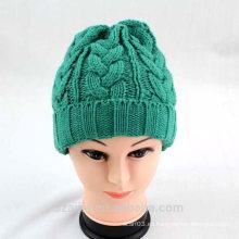 Sombrero de punto de acrílico colorido hecho punto de las señoras