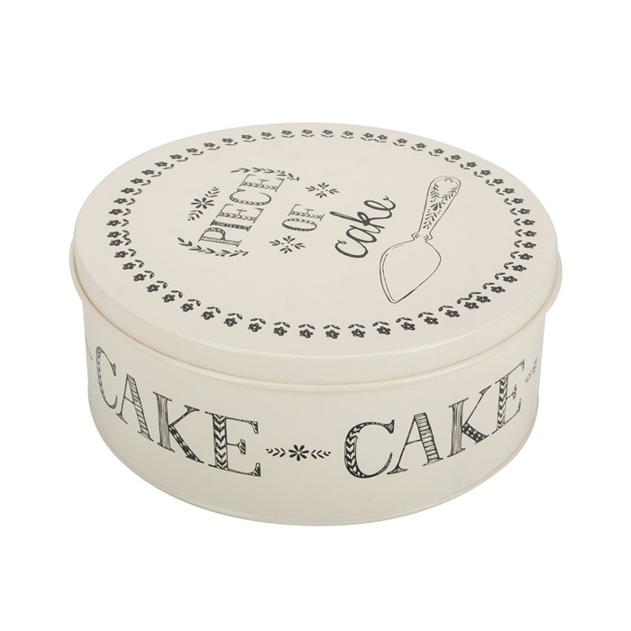 Tin Cake Storage Box