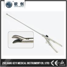 Reutilizável Laparoscopic Needle Holder Curvado à Esquerda Curva Direita Ponta