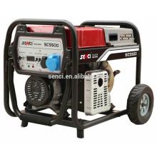 Diesel generador de consumo de combustible por hora generador portátil de soldadura diesel