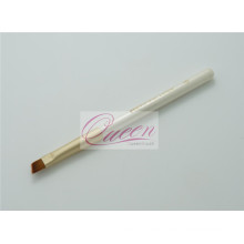 White Griff Nylon Haar gewinkelt Eyeliner Pinsel (QB-ES323)