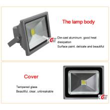 High Lumen Bridgelux IP65 Outdoor 50W Светодиодный светильник для солнечного света