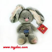 Плюшевое большое ухо Серый кролик