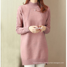 PK18ST073 Elegant long sleeve crew neck woman dress cashmere sweater
