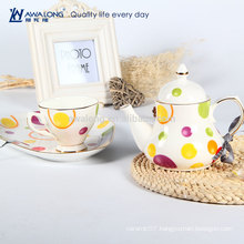 Bone China coffee cup one person usage has fancy design and beautiful flower decal