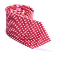 Hochwertige Seide Burgunder Houndstooth Private Label Custom Print Krawatten