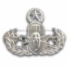 Custom Irregular Silver Plated Police Badge (GZHY-BADGE-015)