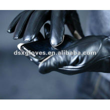 fashion leather Touchscreen Gloves for man