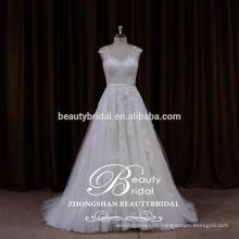 2017 new summer strapped wedding dress from china custom made wedding dress ZSS001