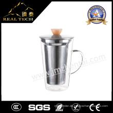Glas Kaffeetasse 400ml Kaffee Design Glas Tasse Latte Cafe Latte Glas Guten Preis Glas Cup