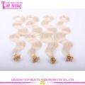 Фабрика цена двойной обращается кончик волос расширений #27 тела волна U кончика волос наращивание ногтей