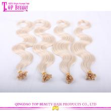 Fabrik Preis doppelt gezeichnet Nagel Tipp Haar Extensions #27 Körper Welle U Tipp Haarverlängerungen