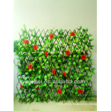 China cheap decorative wholesale artificial leaf fence with rose flower